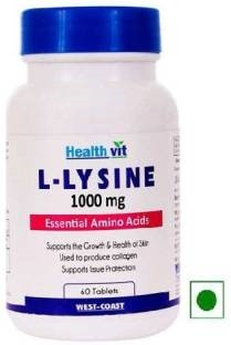 Healthvit L Lysine 1000 mg Supplements (60 Tablets)