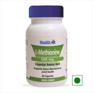 Healthvit L-Methionine 500 mg (60 Capsules)