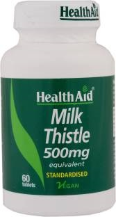 Health Aid Milk Thistle Supplements (500mg, 60 Capsules)