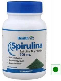 Healthvit Spirulina (60 Capsules) - Pack Of 2