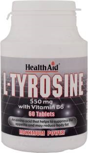 Health Aid L-Tyrosine 550mg With Vitamin B6 Supplements (60 Capsules)