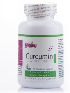 Zenith Nutrition Curcumin With Piperine Supplements (120 Capsules)