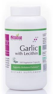 Zenith Nutrition Garlic With Lecithin Supplements (300 Capsules)