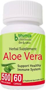 Bhumija Lifesciences Aloevera 500mg Supplements (60 Capsules) - Pack Of 3