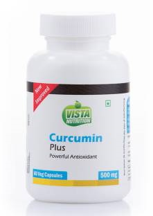Vista Nutrition Curcumin Plus 500mg Supplements (60 Veg Capsules)