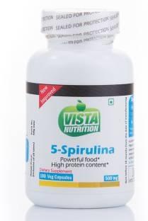 Vista Nutrition 5 Spirulina 500 mg Supplements (300 Capsules)