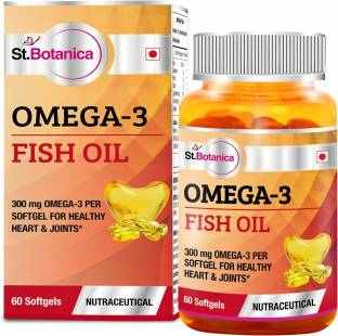 StBotanica Omega 3 Fish Oil 300mg Supplement (60 Capsules)