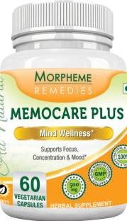 Morpheme Remedies Memocare Plus 500mg Extract Supplements (60 Capsules)
