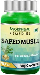 Morpheme Remedies Safed Musli 500mg Extract Supplements (60 Capsules)
