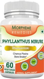 Morpheme Remedies Phyllanthus Niruri 500 mg Extract Supplements (60 Capsules)