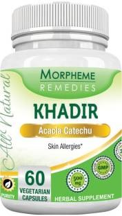 Morpheme Remedies Khadir 500mg Supplements (60 Capsules)