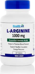 Healthvit L-Arginine 1000mg Supplements (60 Capsules)