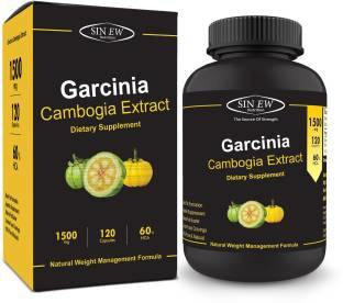 Sinew Nutrition Garcinia Cambogia Extract Supplement (1500 mg, 120 Caps)
