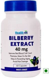 Healthvit Bilberry Extract 40mg Supplements (60 Capsules)
