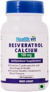 Healthvit Resveratrol 100 mg Calcium Supplement (60 Capsules)