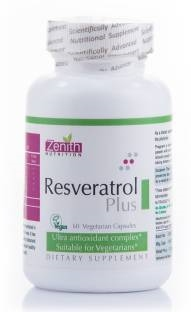 Zenith Nutrition Resveratrol Plus Gymnema Supplements (60 Capsules)