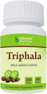 Bhumija Lifesciences Triphala 250mg Supplements (60 Capsules) - Pack Of 2