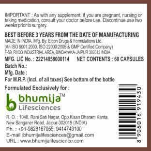 Bhumija Lifesciences Triphala 250mg Supplements (60 Capsules) - Pack Of 5