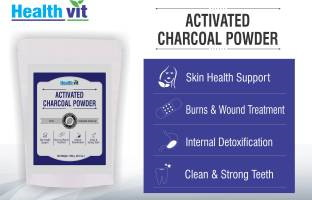 Healthvit Activated Charcoal Powder (250gm / 0.56lbs)