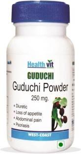 Healthvit Guduchi Powder 250 mg Supplements (60 Capsules)
