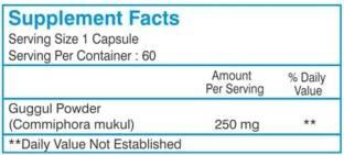 Healthvit Guggul Powder 250 mg Supplements (60 Capsules)