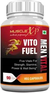 MuscleXP Vito Fuel Men Vital 500mg Supplement (90 Capsules)
