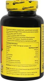 MuscleBlaze Fish Oil 1000 mg, 90 softgels