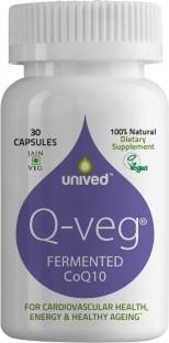 Unived Q-Veg Natural CoQ10 216 mg (30 Capsules)