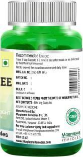 Morpheme Remedies Green Coffee Bean Extract Supplement (60 Capsules)