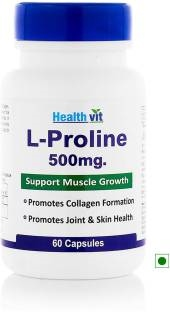 Healthvit L-Proline 500mg Supplement (60 Capsules)