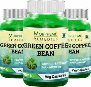 Morpheme Remedies Green Coffee Bean Extract Supplement (60 Capsules, Pack of 3)