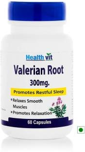 Healthvit Valerian Root Extract 300mg Supplement (60 Capsules)