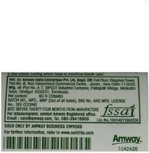 Amway Nutrilite Biotin Cherry Plus Supplement (60 Capsules)