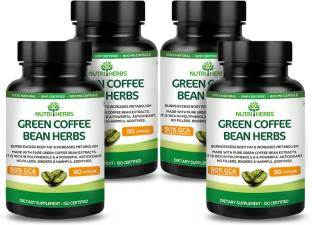 NutriHerbs Green Coffee Bean Herbs Supplement (90 Capsules) - Pack of 4