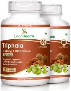 Leanhealth Triphala 800mg Supplement (60 Capsules, Pack of 2)