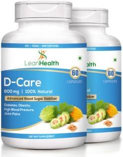 Leanhealth D-Care 800mg Supplement (60 Capsules, Pack of 2)