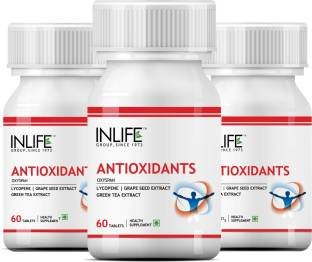 Inlife Antioxidants With Lycopene Immune Booster Supplement (60 Capsules) - Pack Of 3
