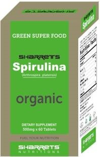 Sharrets Nutritions Organic Spirulina (60 Capsules)