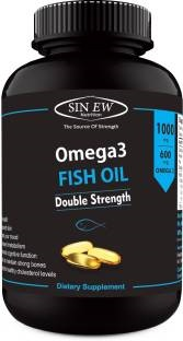 Sinew Nutrition Omega 3 Fish Oil 1000mg Supplement (60 Capsules)