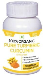 Perennial Lifesciences 100% Organic Pure Turmeric Curcumin Supplements (60 Capsules)