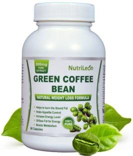 NutriLeon Green Coffee Bean 800mg Supplement (60 Capsules)