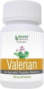 Bhumija Lifesciences Valerian 250 mg Supplement (60 Capsules)