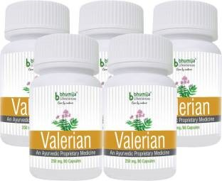 Bhumija Lifesciences Valerian 250mg Supplements (60 Capsules) - Pack Of 5
