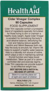 Health Aid Cider Trim Vinegar Complex Zs Supplements (90 Capsules)