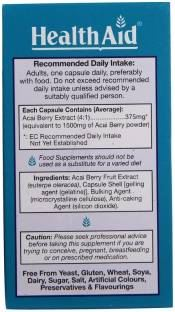 Health Aid Acai Ace Berry 1500 mg Supplements (30 Capsules)