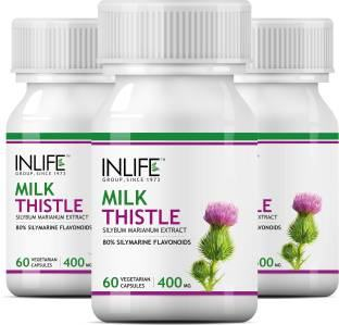 Inlife Milk Thistle 400mg Supplement (60 Capsules, Pack of 3)