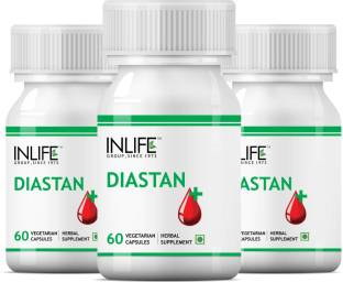 Inlife Diastan Supplement (60 Capsules, Pack of 3)