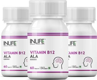 Inlife Vitamin B12 Alpha Lipoic Acid Ala (60 Capsules) - Pack Of 3