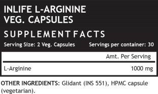 Inlife L-Arginine 1000mg Supplement (60 Capsules) - Pack Of 3
