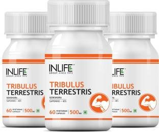 Inlife Tribulus Terrestris Gokshura Supplement (60 Capsules) - Pack Of 3
